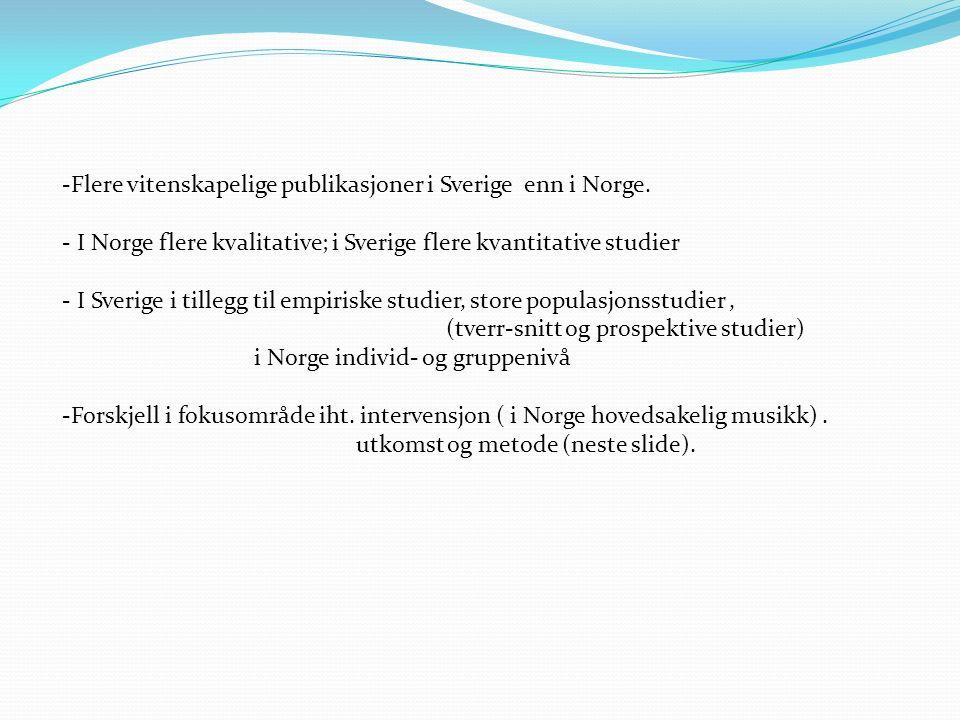 -Flere vitenskapelige publikasjoner i Sverige enn i Norge.