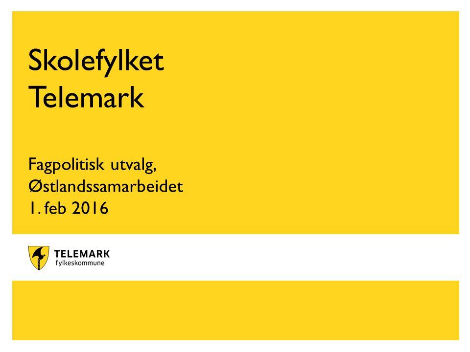 www.telemark.no Skolefylket Telemark Fagpolitisk utvalg, Østlandssamarbeidet 1. feb 2016