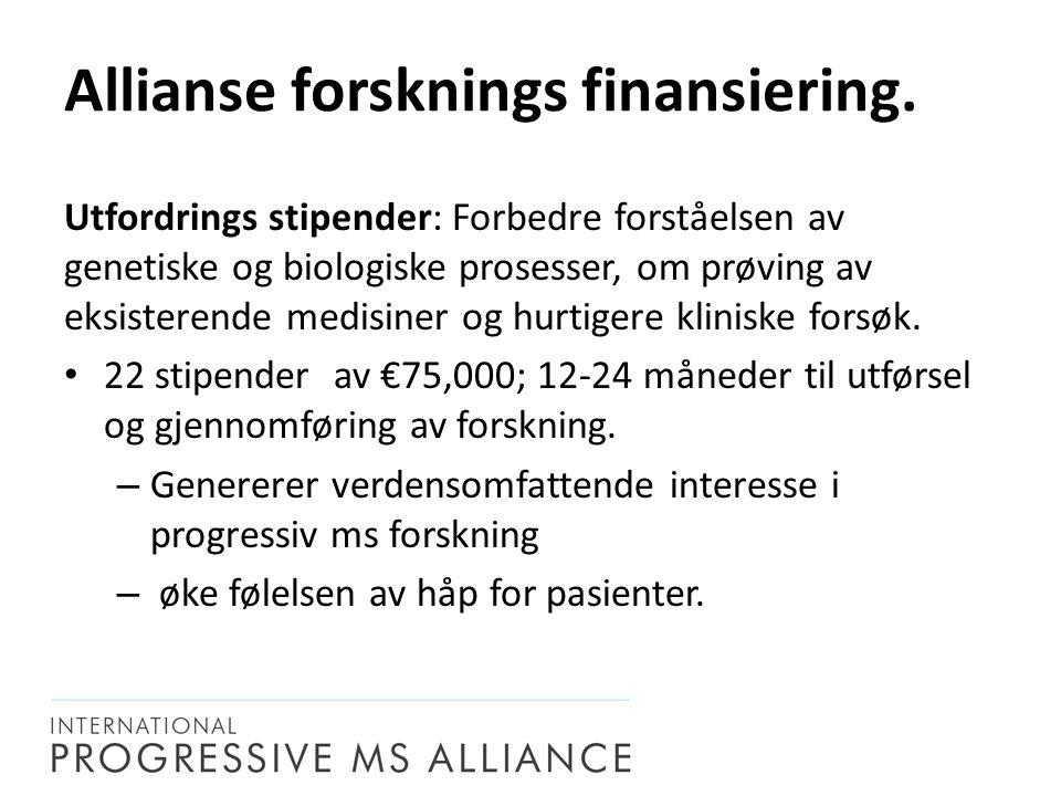 Utfordrings stipender: Forbedre forståelsen av genetiske og biologiske prosesser, om prøving av eksisterende medisiner og hurtigere kliniske forsøk.