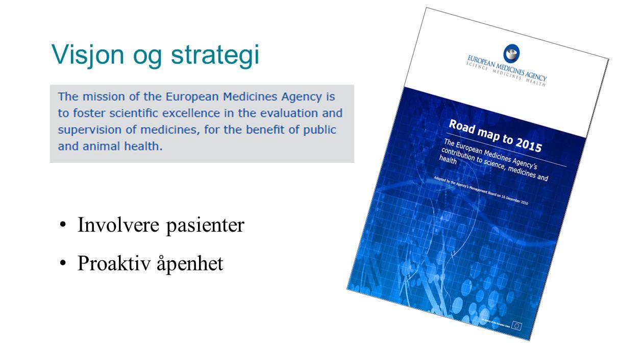 Visjon og strategi Involvere pasienter Proaktiv åpenhet