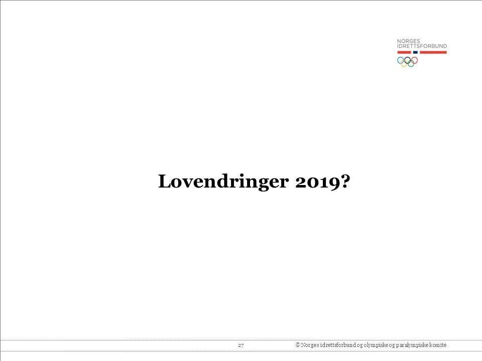 27© Norges idrettsforbund og olympiske og paralympiske komité Lovendringer 2019