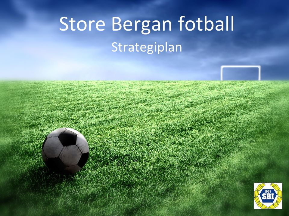 Anlegg Fotball – kun en utendørs aktivitet.
