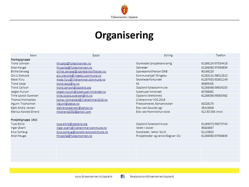 www.fylkesmannen.no/opplandFacebookcom/fylkesmannen/oppland Milepæler for skolene NårHva Høsten 2015Individuell oppfølging av skoler på bakgrunn av statusrapporter.