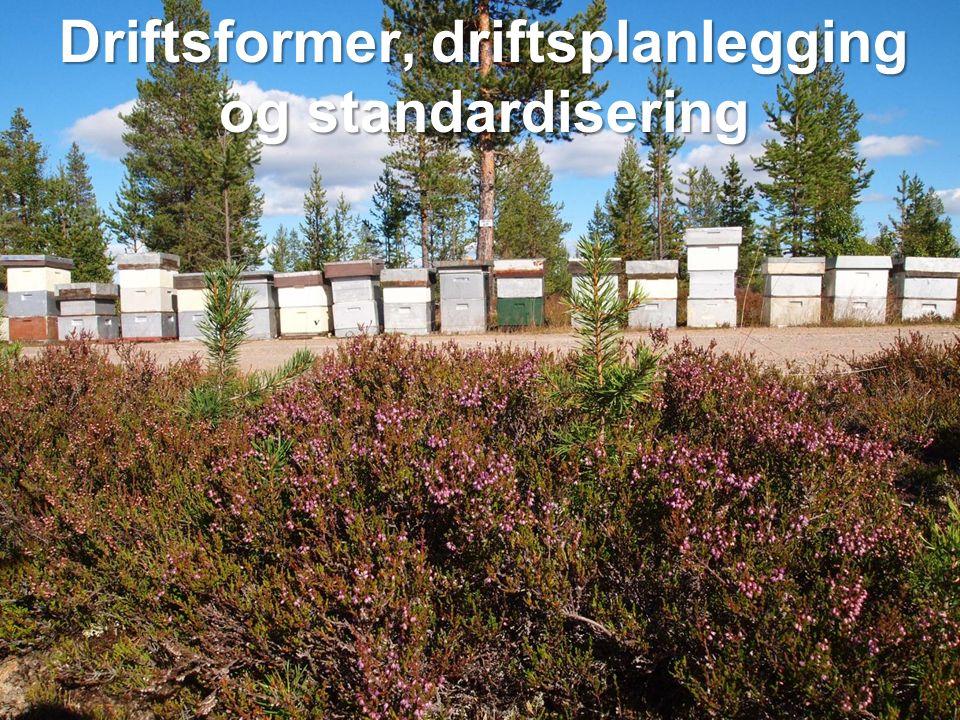Driftsformer, driftsplanlegging og standardisering