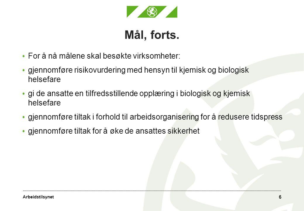Arbeidstilsynet 7 Gjennomføring av tilsyn 1.Formøte.