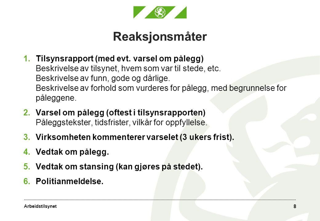 Arbeidstilsynet 19 Utfordringer slambehandling 1.Unngå bioaerosoler Bl.a.