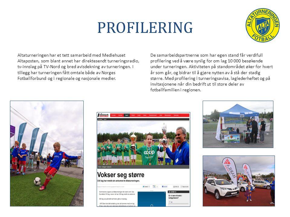 PROFILERING Altaturneringen har et tett samarbeid med Mediehuset Altaposten, som blant annet har direktesendt turneringsradio, tv-innslag på TV-Nord og bred avisdekning av turneringen.