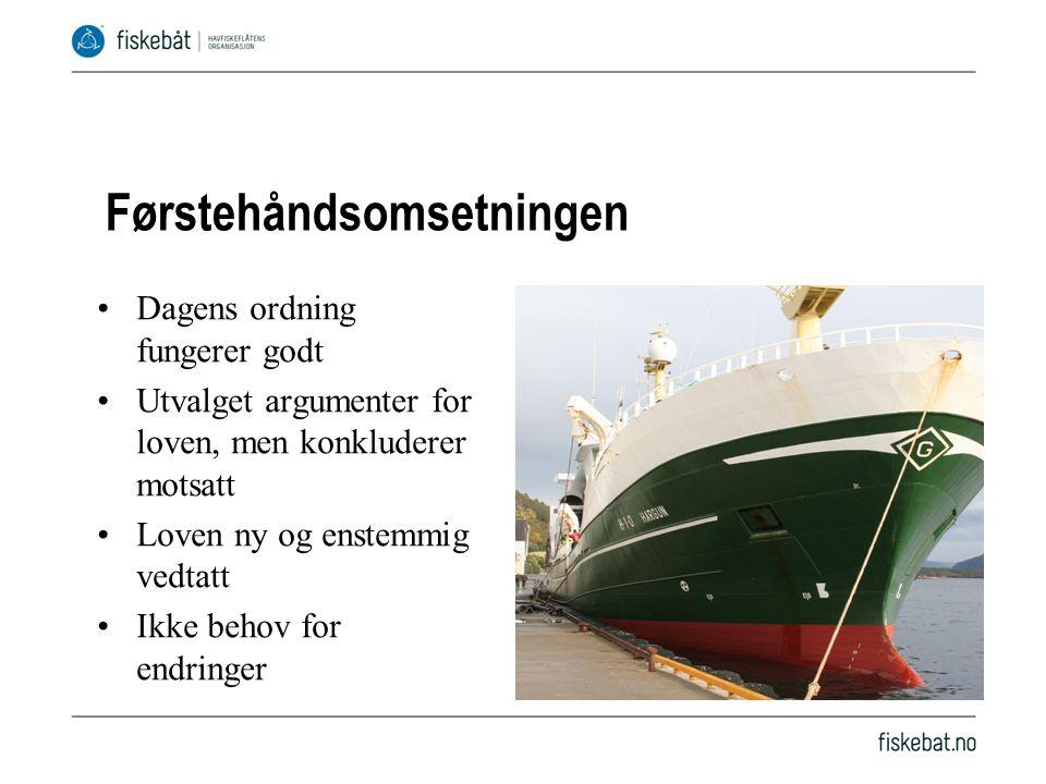 Fiskesalgslagslov Aspaker vil modernisere Fjerne salgslagenes enerett til å sette minstepris V og KrF trolig imot Forhandlingsspill?
