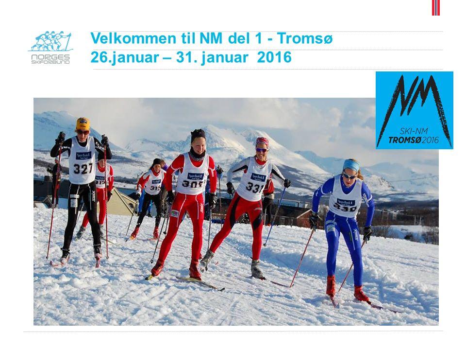 NM 2016 Tromsø Oslo Skikrets Senior De fleste Osloklubbene bor: Hotel Scandic Tromsø Heilovegen 23 9015 Tromsø Telefon: 77 75 50 99 Ansvarlig fra Oslo Skikrets: Dag Kaas, m.