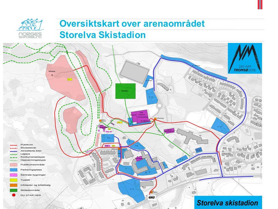 Løypekart Storelva Skistadion Kvaløysletta