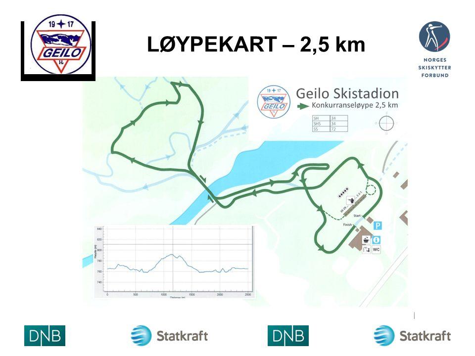 LØYPEKART – 2,5 km ARRANGØRLOGO