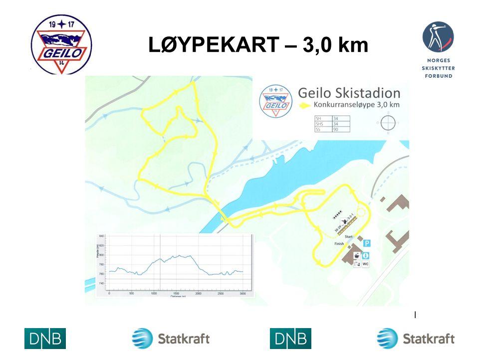LØYPEKART – 3,0 km