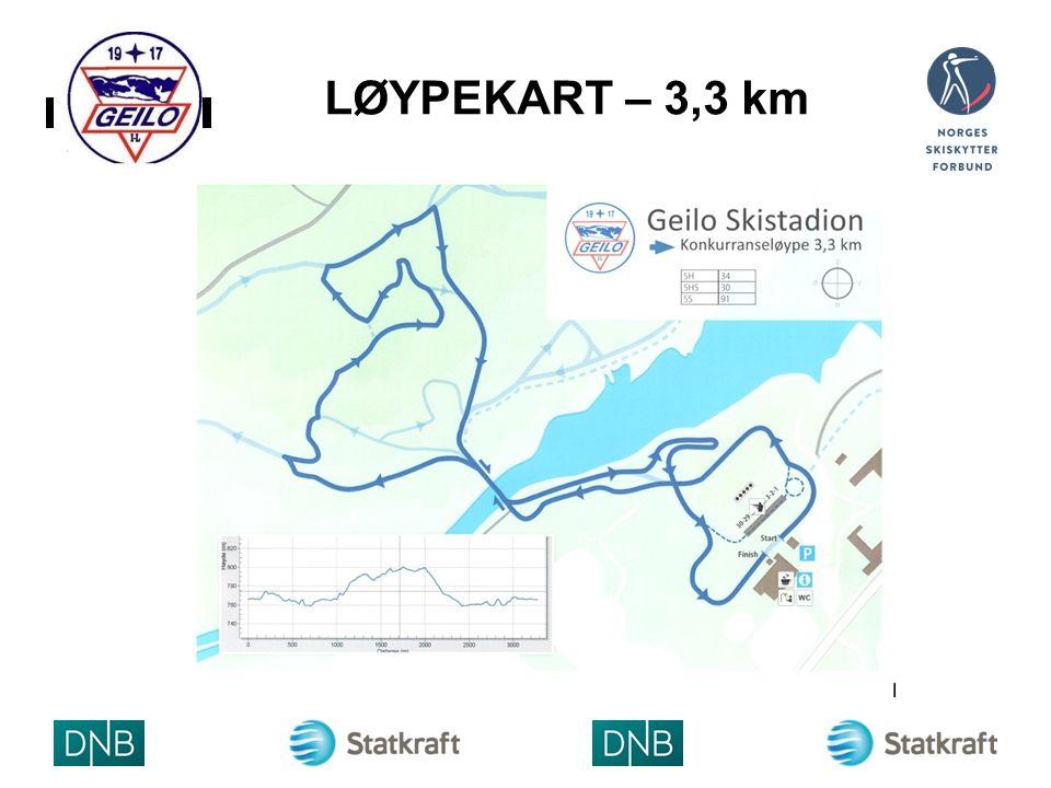 LØYPEKART – 3,3 km ARRANGØRLOG