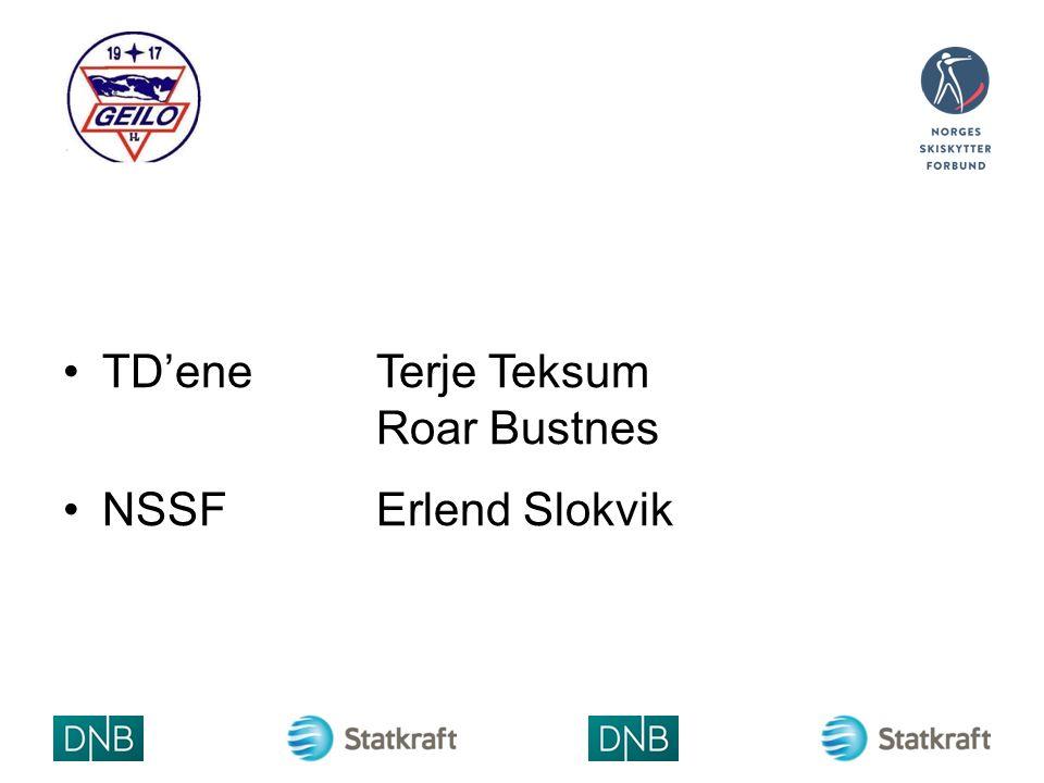 VALG AV RENNJURY TD (leder) Terje Teksum TDRoar Bustnes RENNLEDERTorgeir Skrede VALGT LAGLEDER NSSF´s adm.