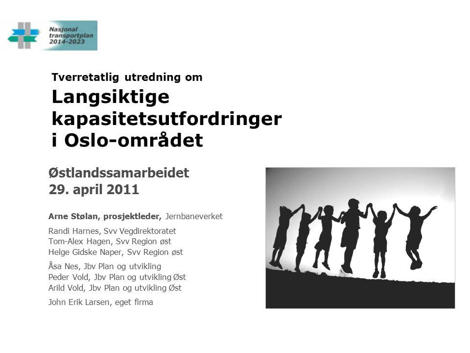 Tverretatlig utredning om Langsiktige kapasitetsutfordringer i Oslo-området Østlandssamarbeidet 29.