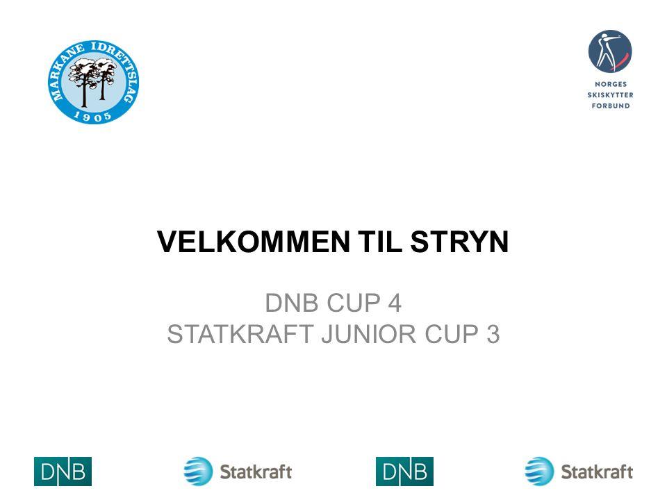 VELKOMMEN TIL STRYN DNB CUP 4 STATKRAFT JUNIOR CUP 3 ARRANGØ RLOGO