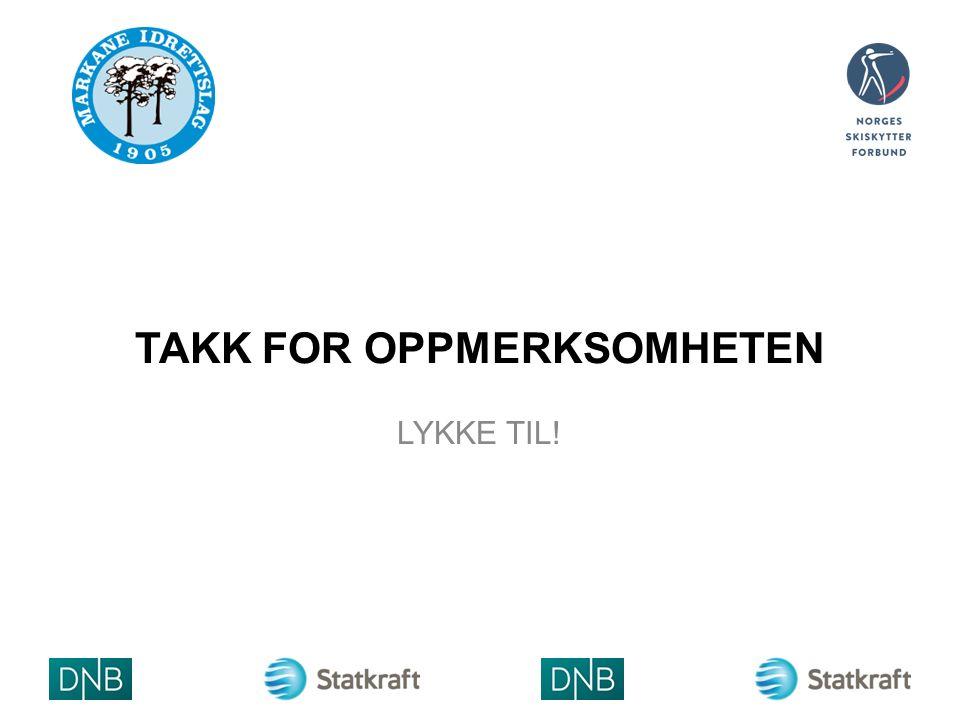 TAKK FOR OPPMERKSOMHETEN LYKKE TIL! ARRAN GØRLO GO