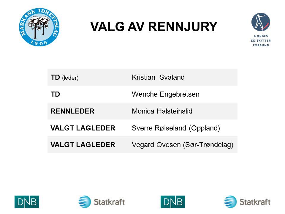 VALG AV RENNJURY ARRA NGØR LOGO TD (leder) Kristian Svaland TDWenche Engebretsen RENNLEDERMonica Halsteinslid VALGT LAGLEDERSverre Røiseland (Oppland) VALGT LAGLEDERVegard Ovesen (Sør-Trøndelag)
