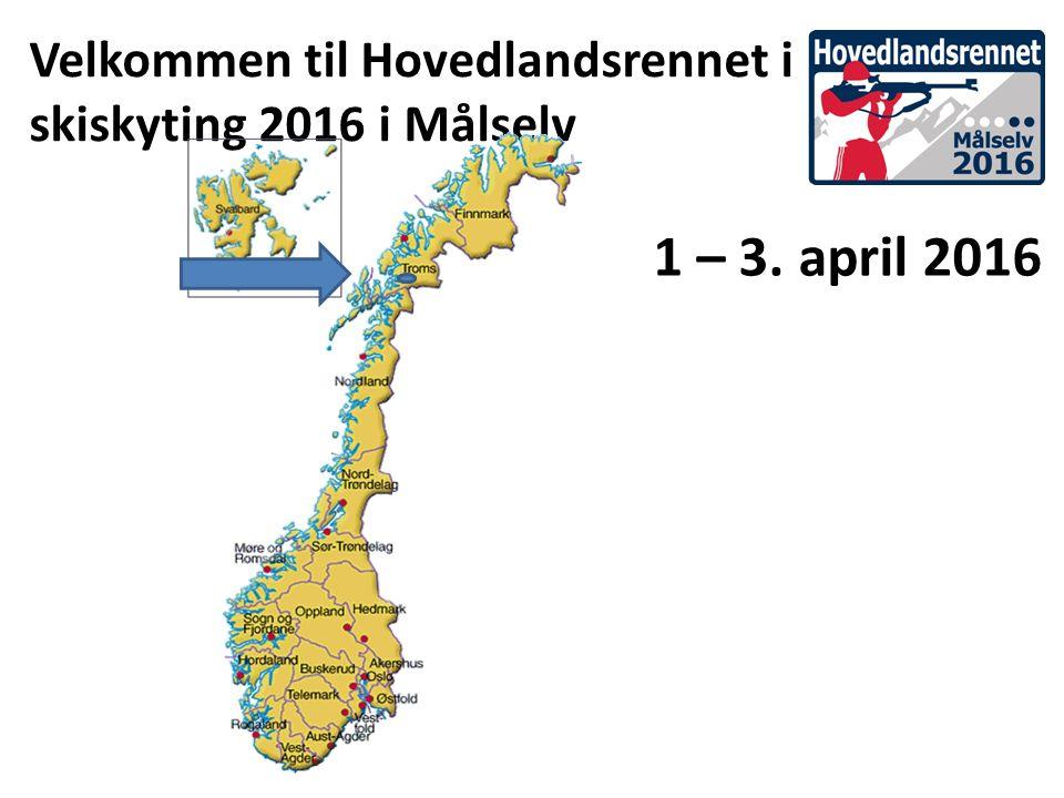 Velkommen til Hovedlandsrennet i skiskyting 2016 i Målselv 1 – 3. april 2016