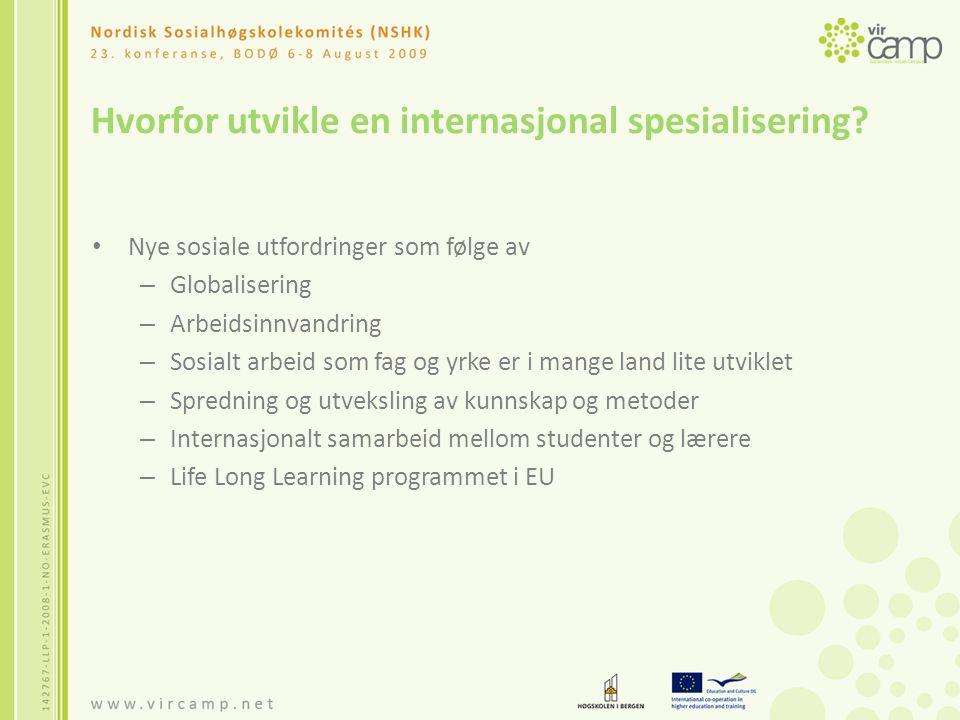 Hvorfor utvikle en internasjonal spesialisering.