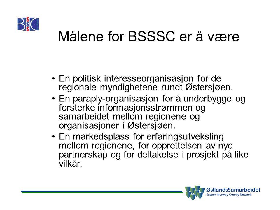 Målene for BSSSC er å være En politisk interesseorganisasjon for de regionale myndighetene rundt Østersjøen.