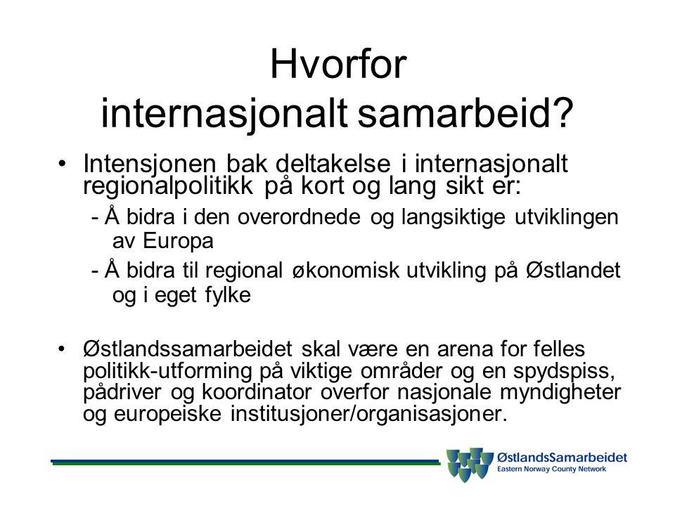 Hvorfor internasjonalt samarbeid.