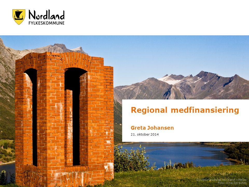 Regional medfinansiering Greta Johansen 21.