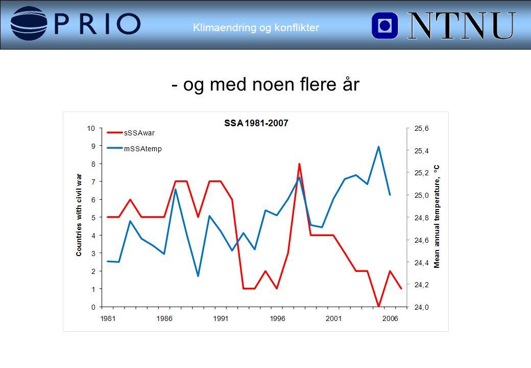Klimaendring og konflikter - og med noen flere år