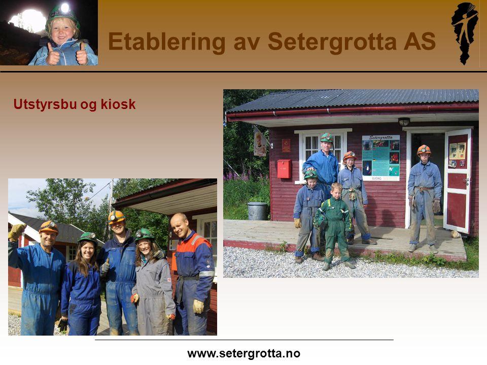 www.setergrotta.no Etablering av Setergrotta AS Utstyrsbu og kiosk