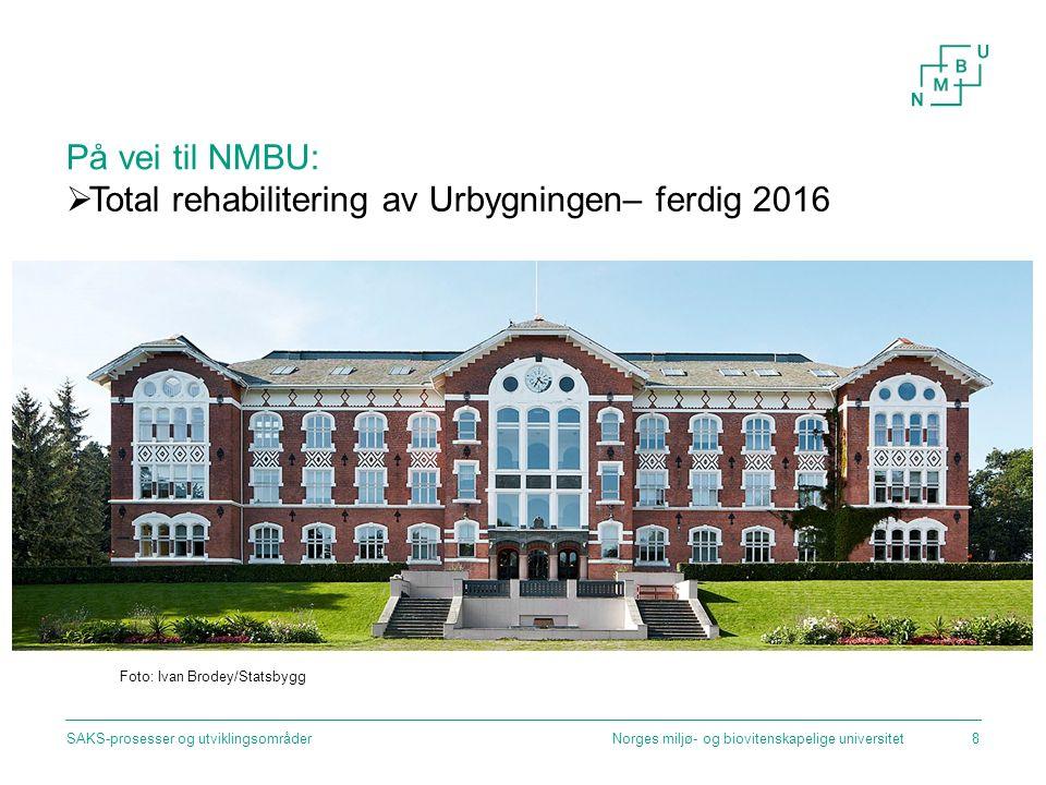 Regjeringen om videre dialog og prosess: Norges miljø- og biovitenskapelige universitetSAKS-prosesser og utviklingsområder19