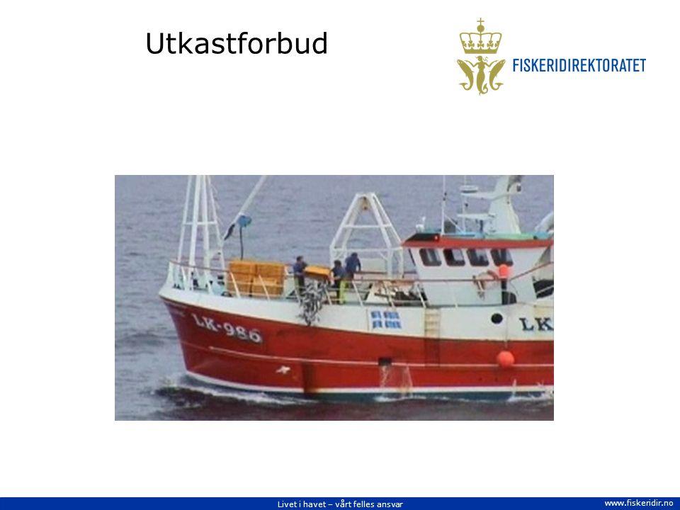 Livet i havet – vårt felles ansvar www.fiskeridir.no Utkastforbud