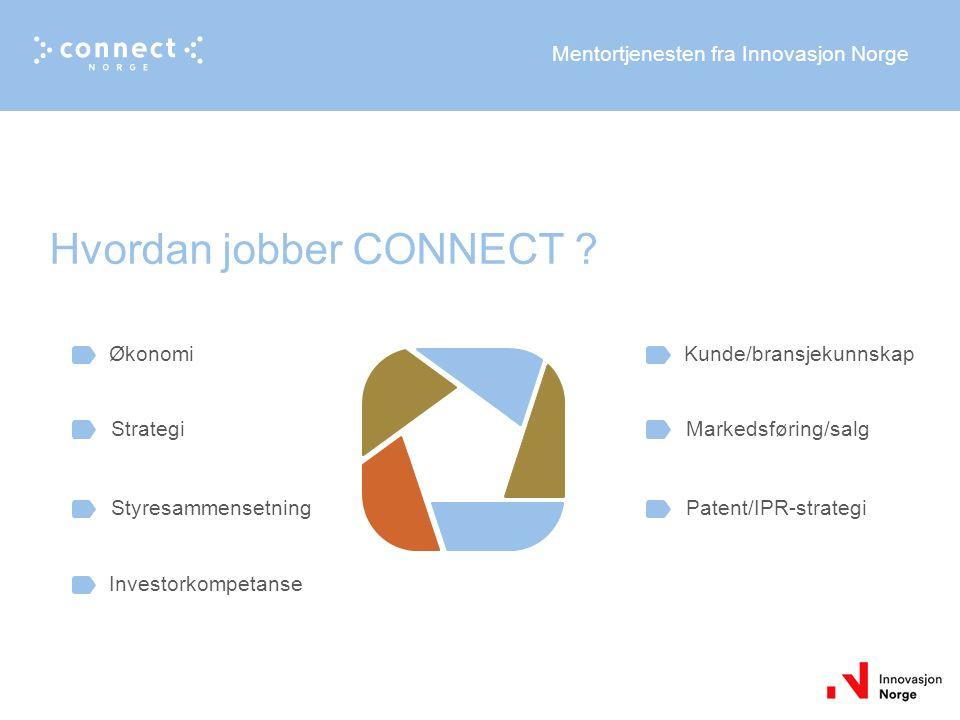 Mentortjenesten fra Innovasjon Norge Hvordan jobber CONNECT .