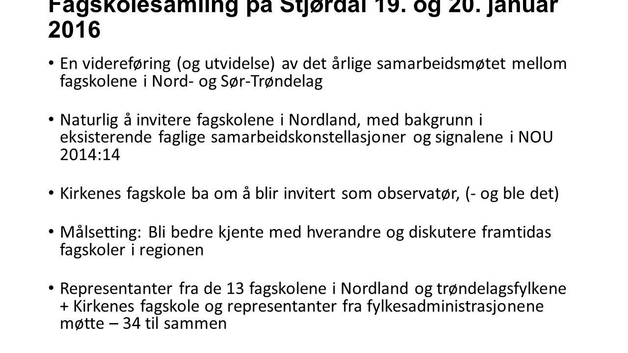 Fagskolesamling på Stjørdal 19. og 20.