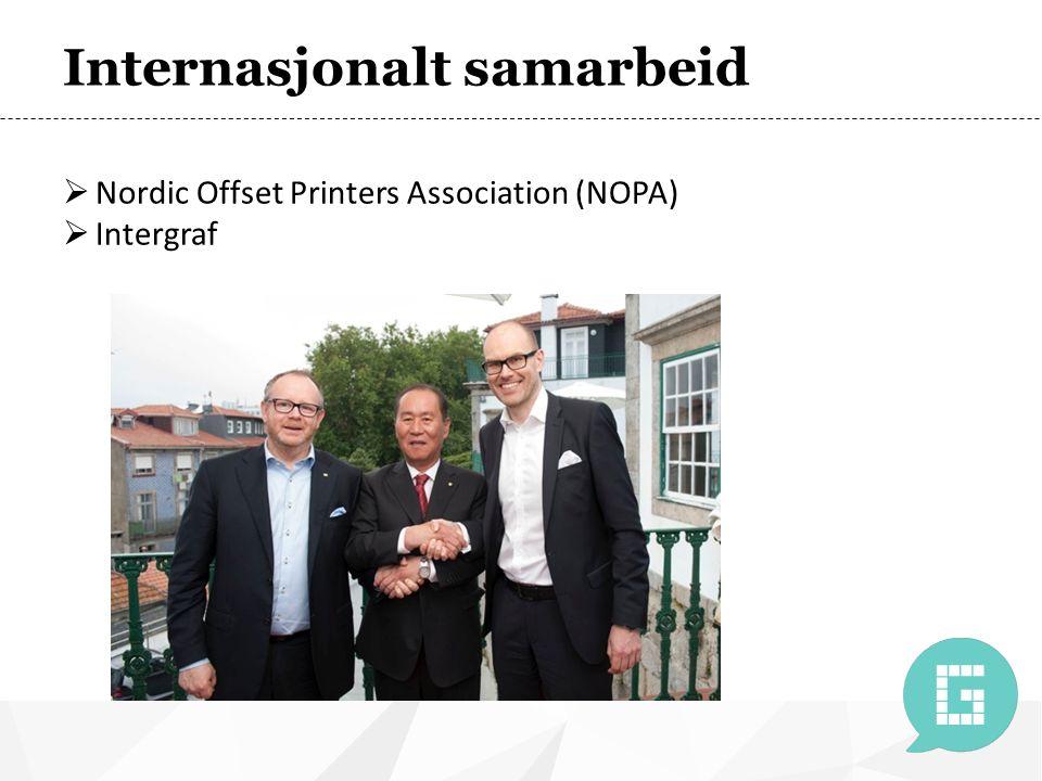 Internasjonalt samarbeid  Nordic Offset Printers Association (NOPA)  Intergraf