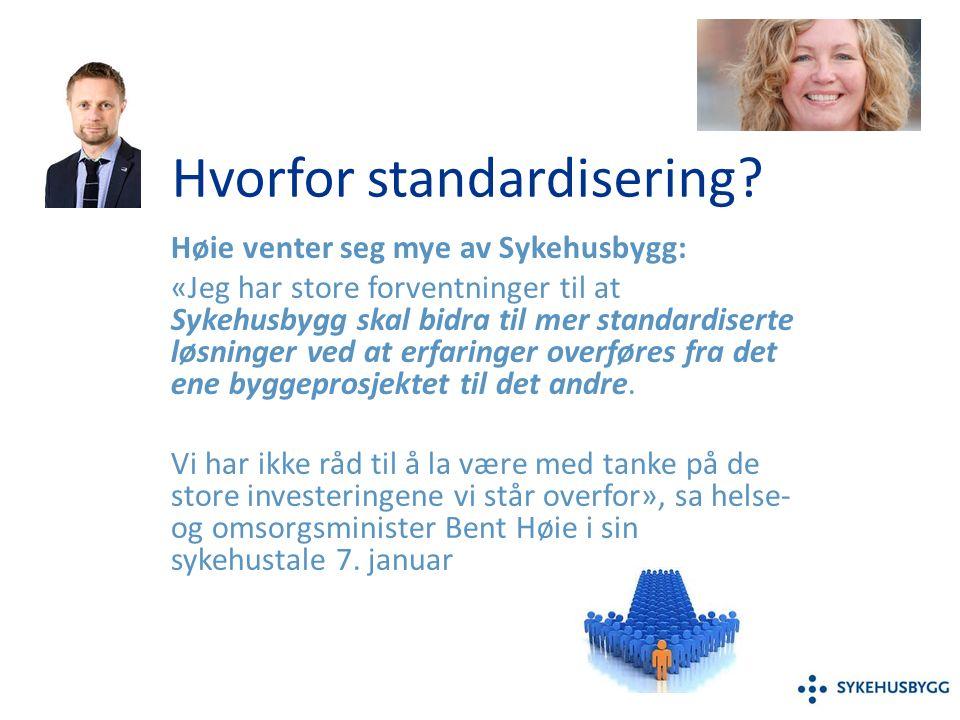 Hvorfor standardisering.