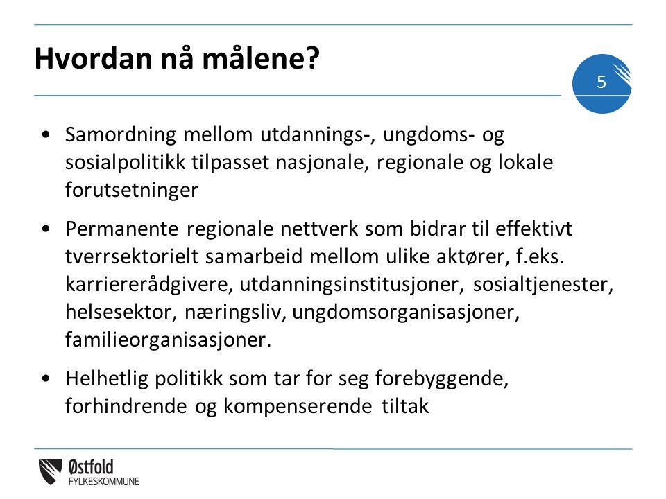 Hvordan nå målene? Samordning mellom utdannings-, ungdoms- og sosialpolitikk tilpasset nasjonale, regionale og lokale forutsetninger Permanente region