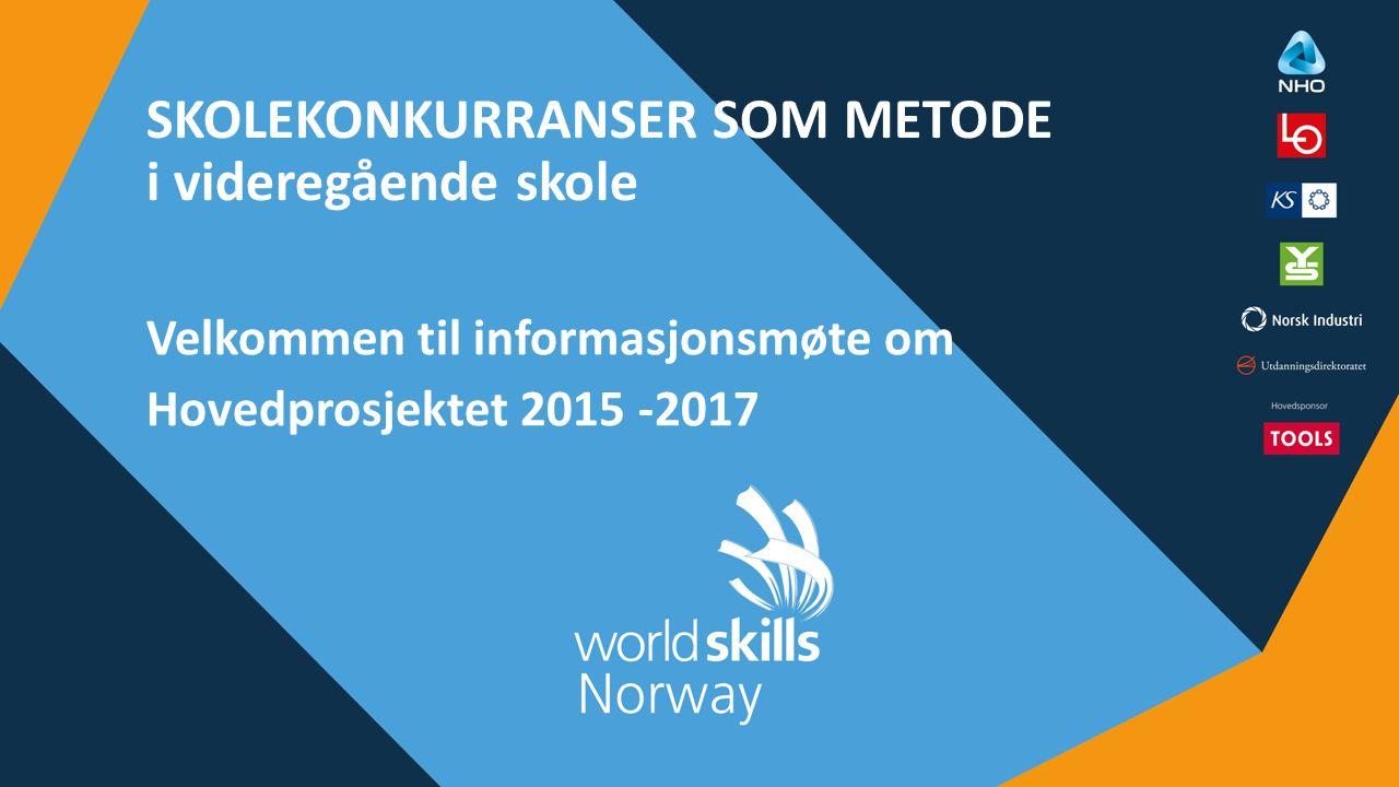 OM WORLDSKILLS NORWAY WorldSkills Norway er en ideell organisasjon med følgende eiere: NHO, LO, Utdanningsdirektoratet, KS, YS Landsforeninger i NHO, fagforbund i LO, Utdanningsforbundet, Virke, Spekter, opplæringskontor og alle fylkeskommunene Totalt ca.