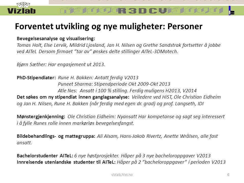 Bevegelsesanalyse og visualisering: Tomas Holt, Else Lervik, Mildrid Ljosland, Jan H.