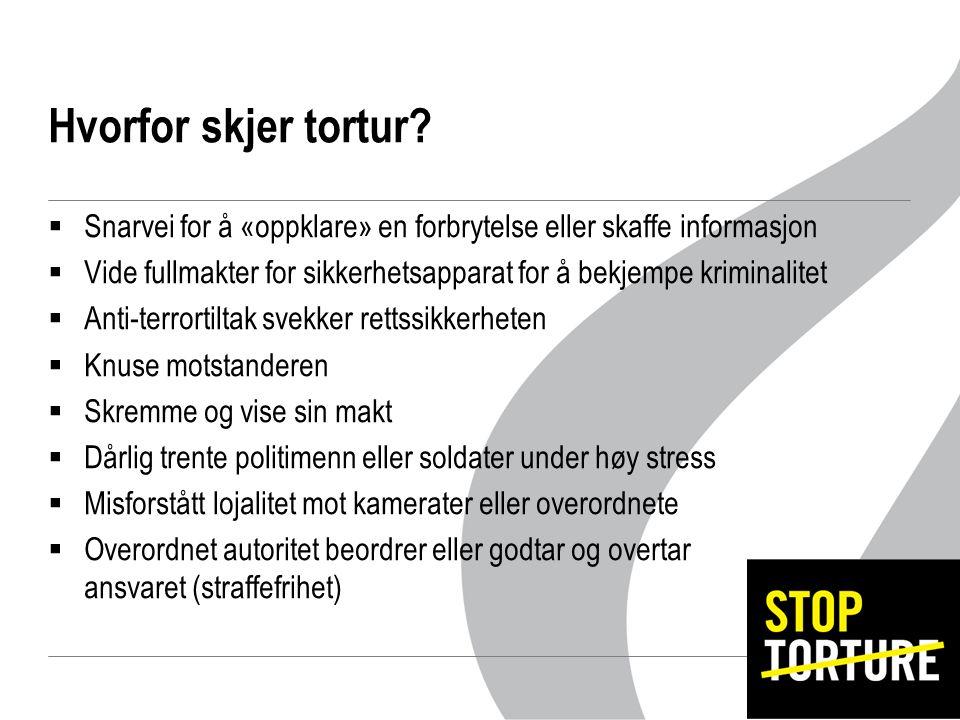 Hvorfor skjer tortur.