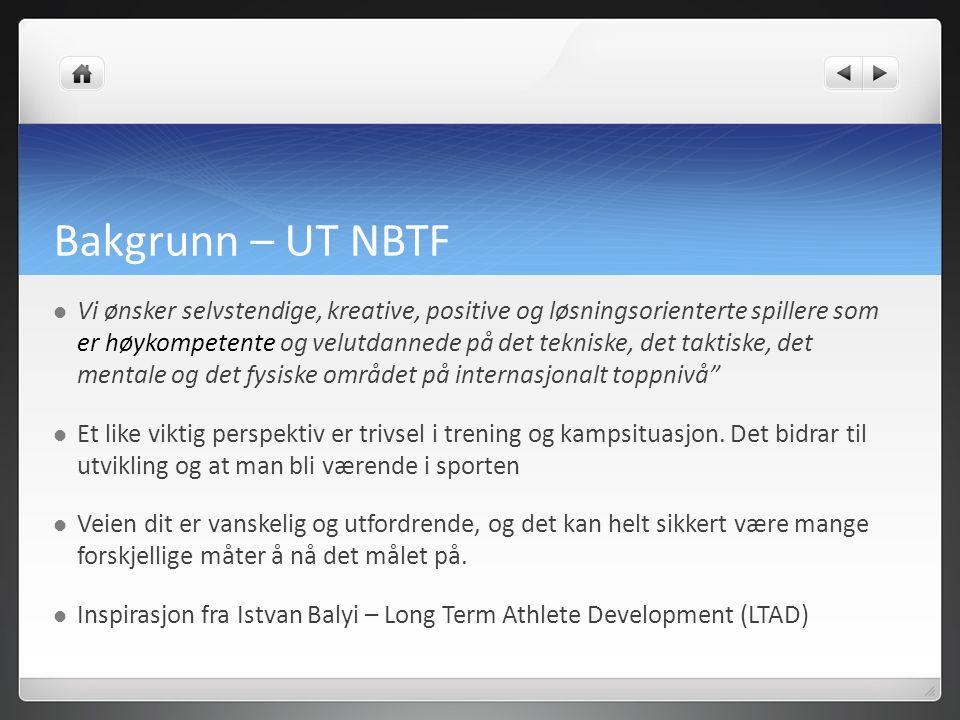 Bakgrunn – UT NBTF Vi ønsker selvstendige, kreative, positive og løsningsorienterte spillere som er høykompetente og velutdannede på det tekniske, det