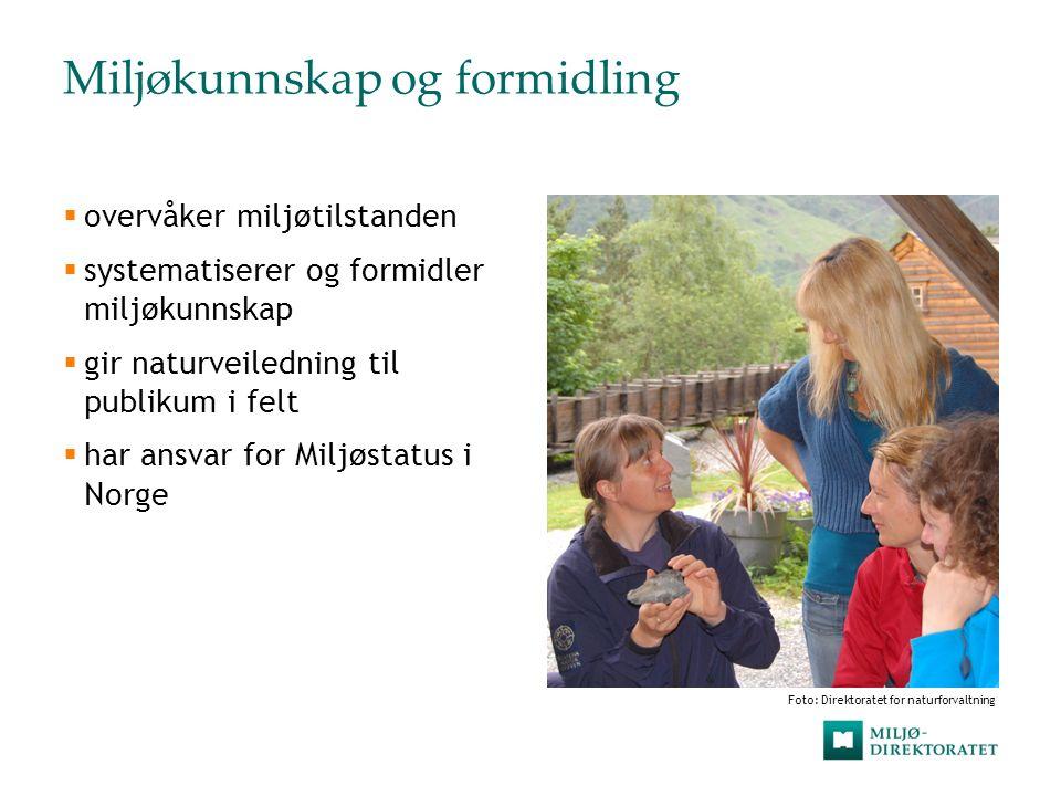 Myndighetsutøvelse  fatter vedtak  legger til rette for gjennomføring av forvaltningstiltak  fører tilsyn  forvalter økonomiske tilskuddsordninger Foto: John Petter Reinertsen