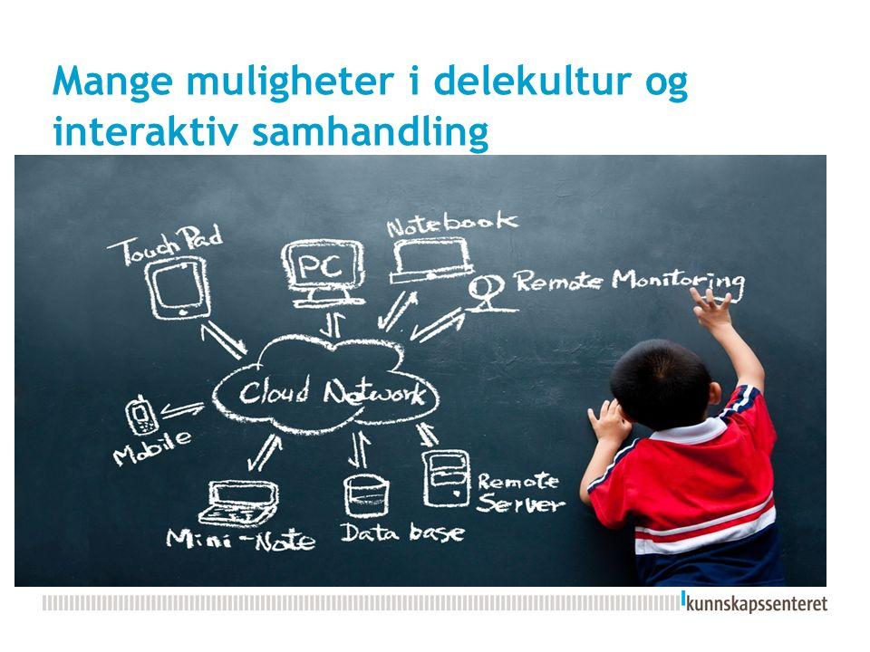 Mange muligheter i delekultur og interaktiv samhandling