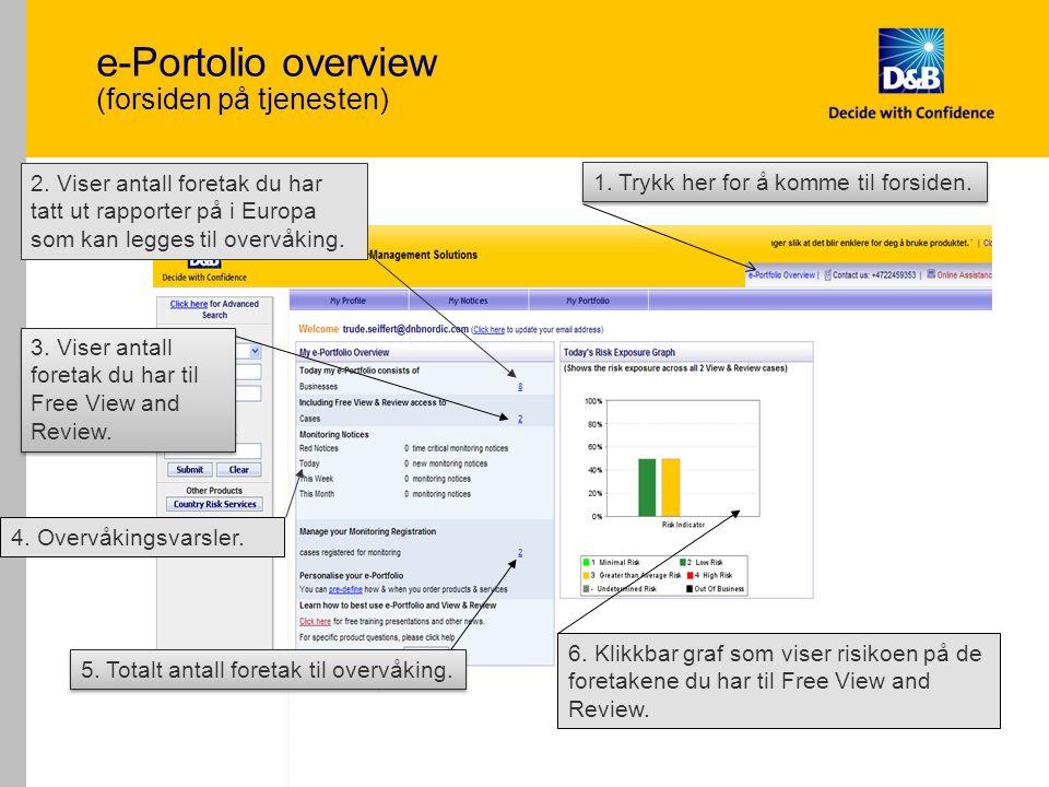 17 e-Portolio overview (forsiden på tjenesten) 2.