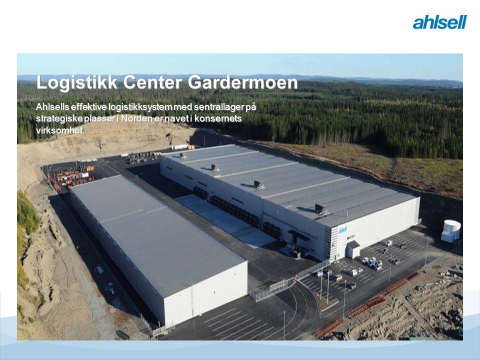 Tjänster & MervärdenLogistikcentrumButikE-handelRegionerEMV Divisioner Ahlsell Transportflyt Logistikk Center Gardermoen Ahlsells effektive logistikksystem med sentrallager på strategiske plasser i Norden er navet i konsernets virksomhet.