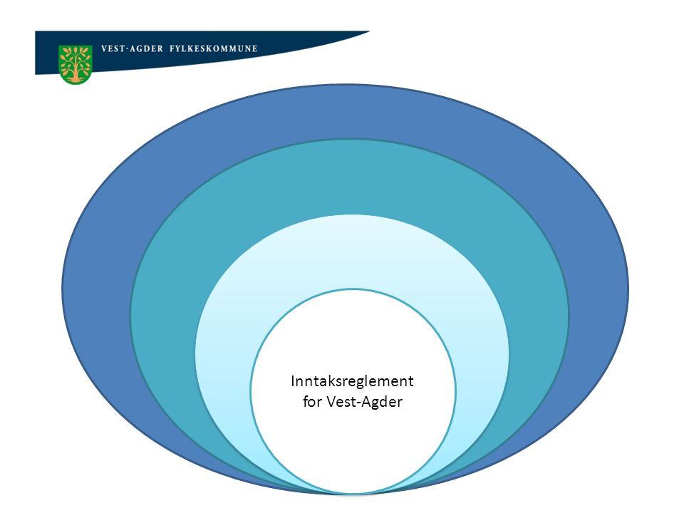 Opplæringsloven Sentral inntaksforskrift Lokal inntaksforskrift Inntaksreglement for Vest-Agder