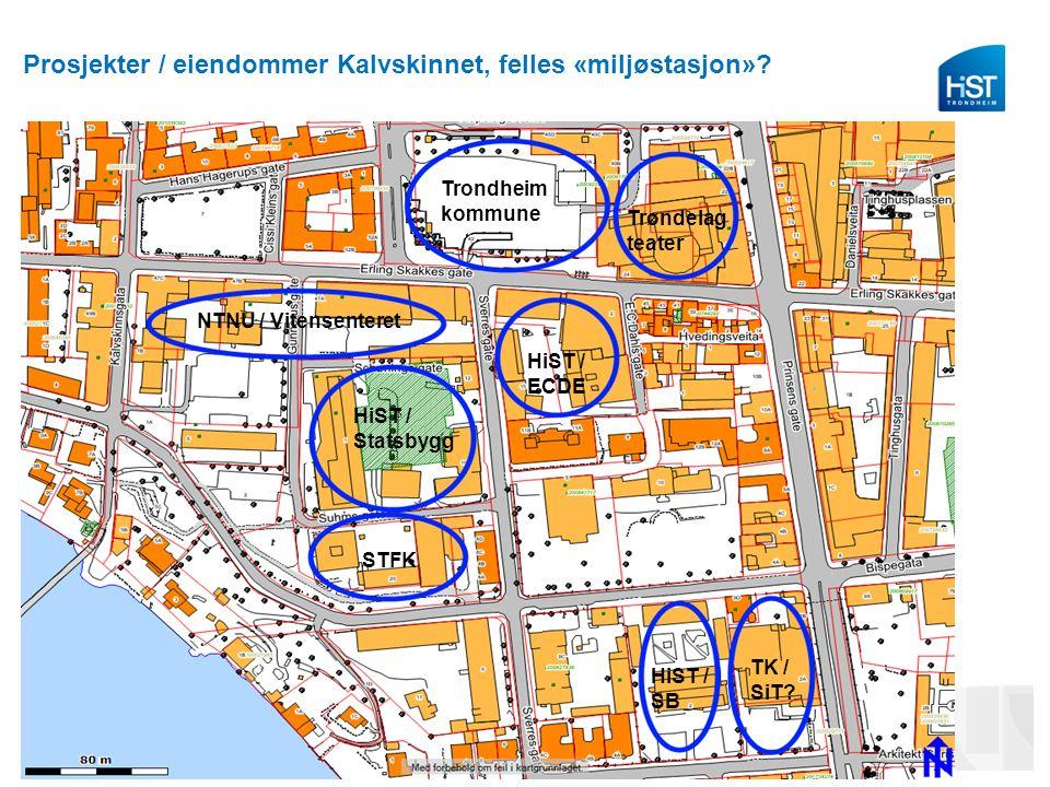 Prosjekter / eiendommer Kalvskinnet, felles «miljøstasjon».