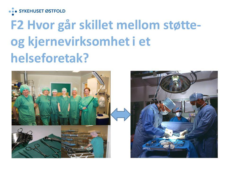 F2 Hvor går skillet mellom støtte- og kjernevirksomhet i et helseforetak