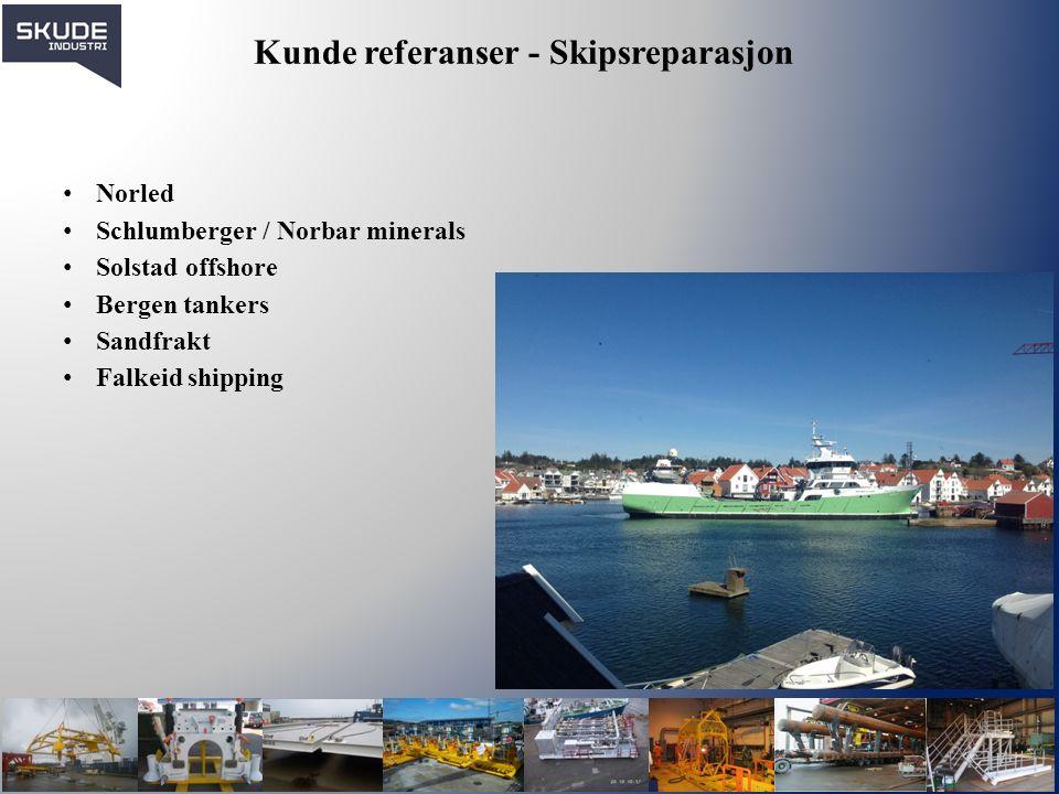 Industri & Anlegg Skude Industri har egen avd.som er lokalisert på ulike industri anlegg.