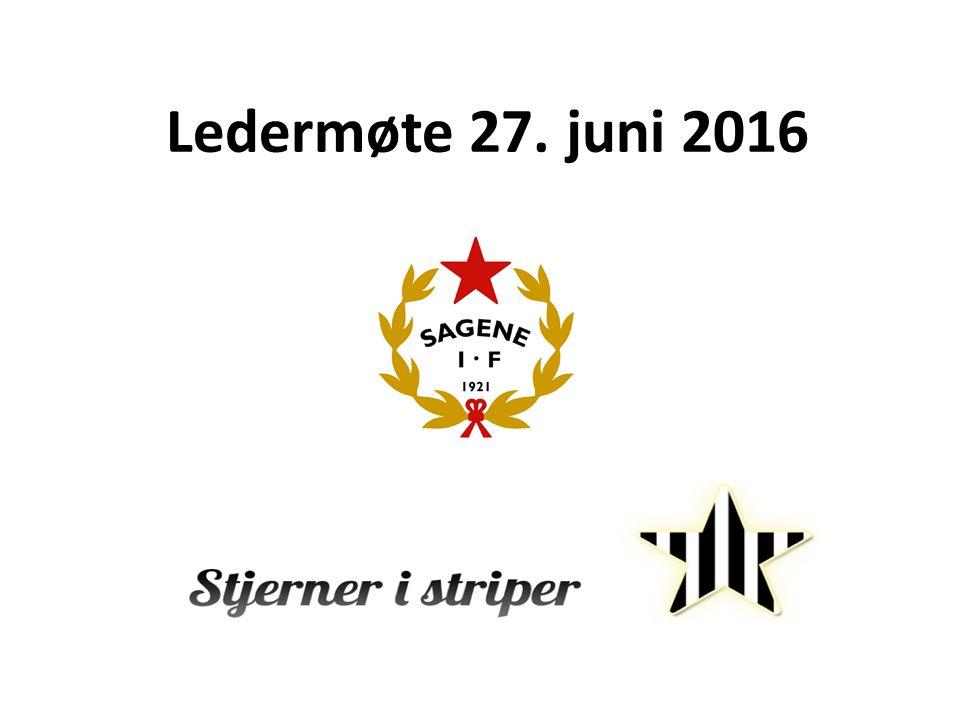 Ledermøte 27. juni 2016