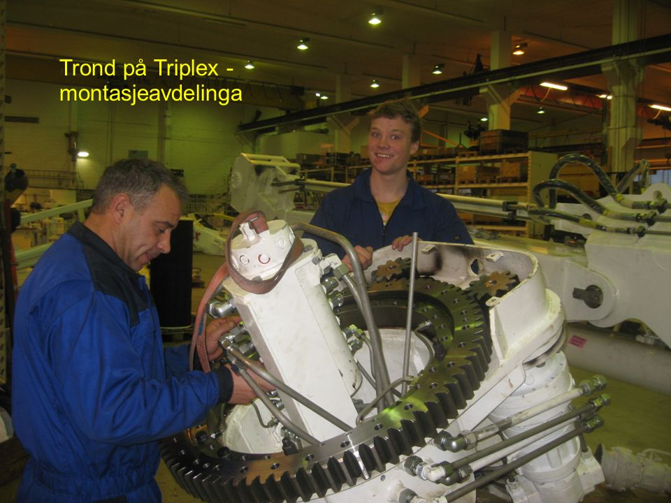 Trond på Triplex - montasjeavdelinga